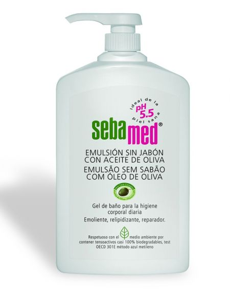 Sebamed emulsión sin jabón 1000 ml con aceite de oliva