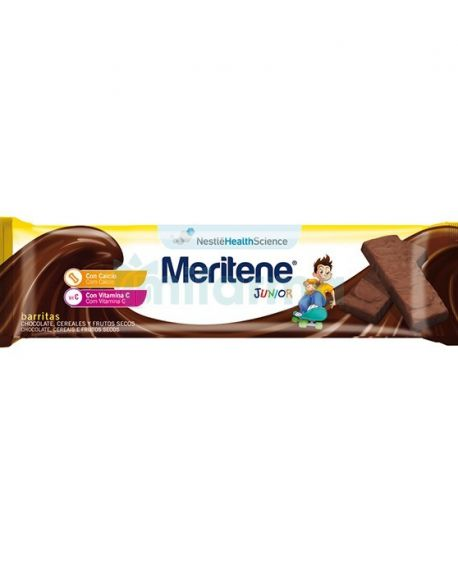 Meritene Junior barritas cereales sabor chocolate 1 ud