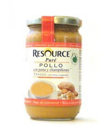Nestlé Resource puré de pollo con pasta y champiñones 300 gr
