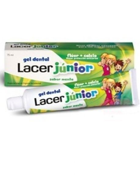 Lacer gel dentífrico junior sabor menta 75 ml