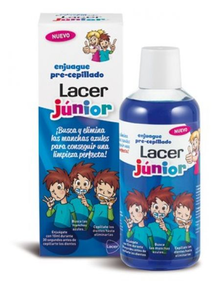 Lacer enjuague pre-cepillado junior 500 ml