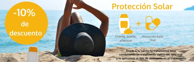 protección solar promocion crema solar + protección solar oral